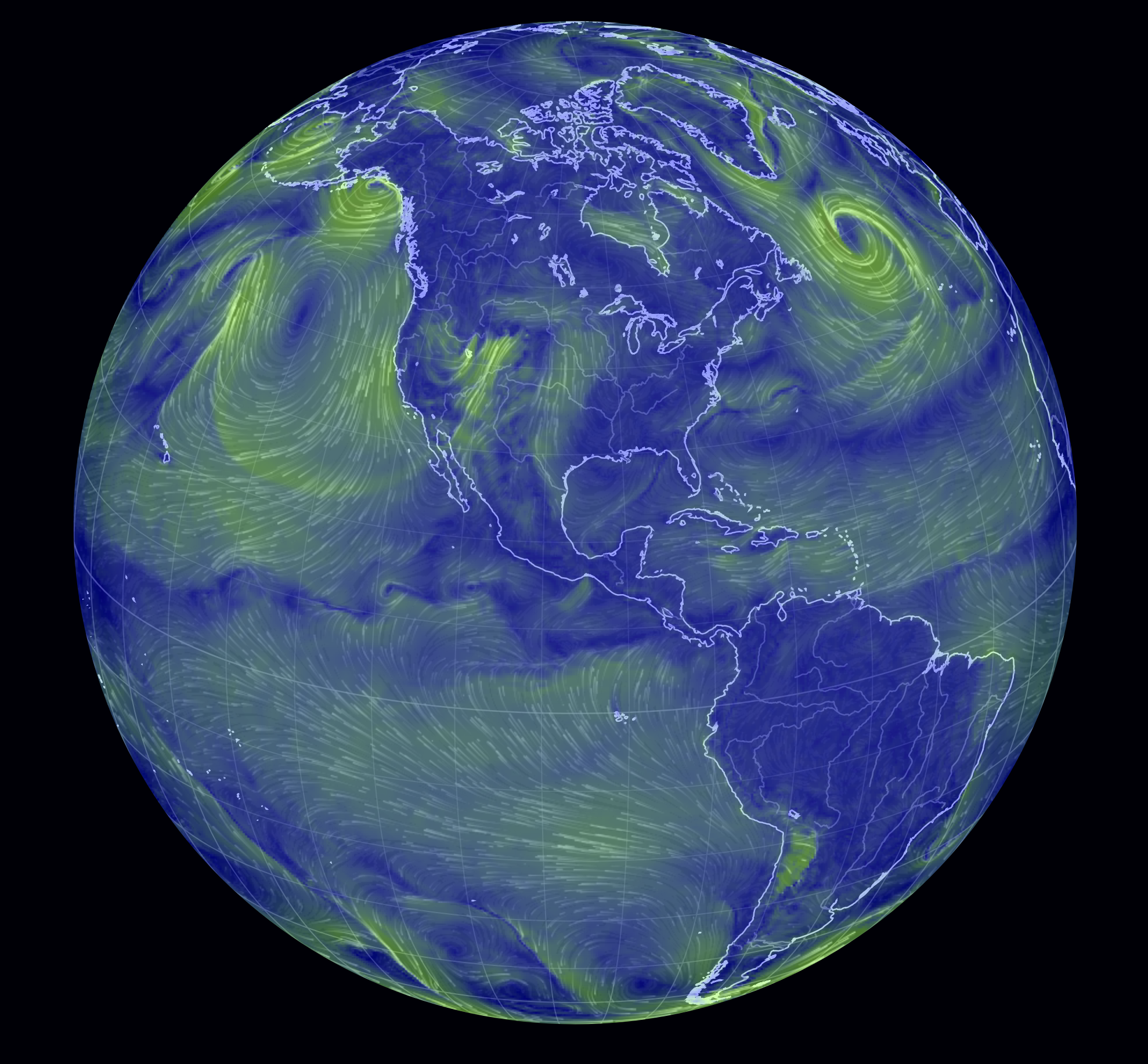 Visualisation Of Global Weather Conditions Information Is