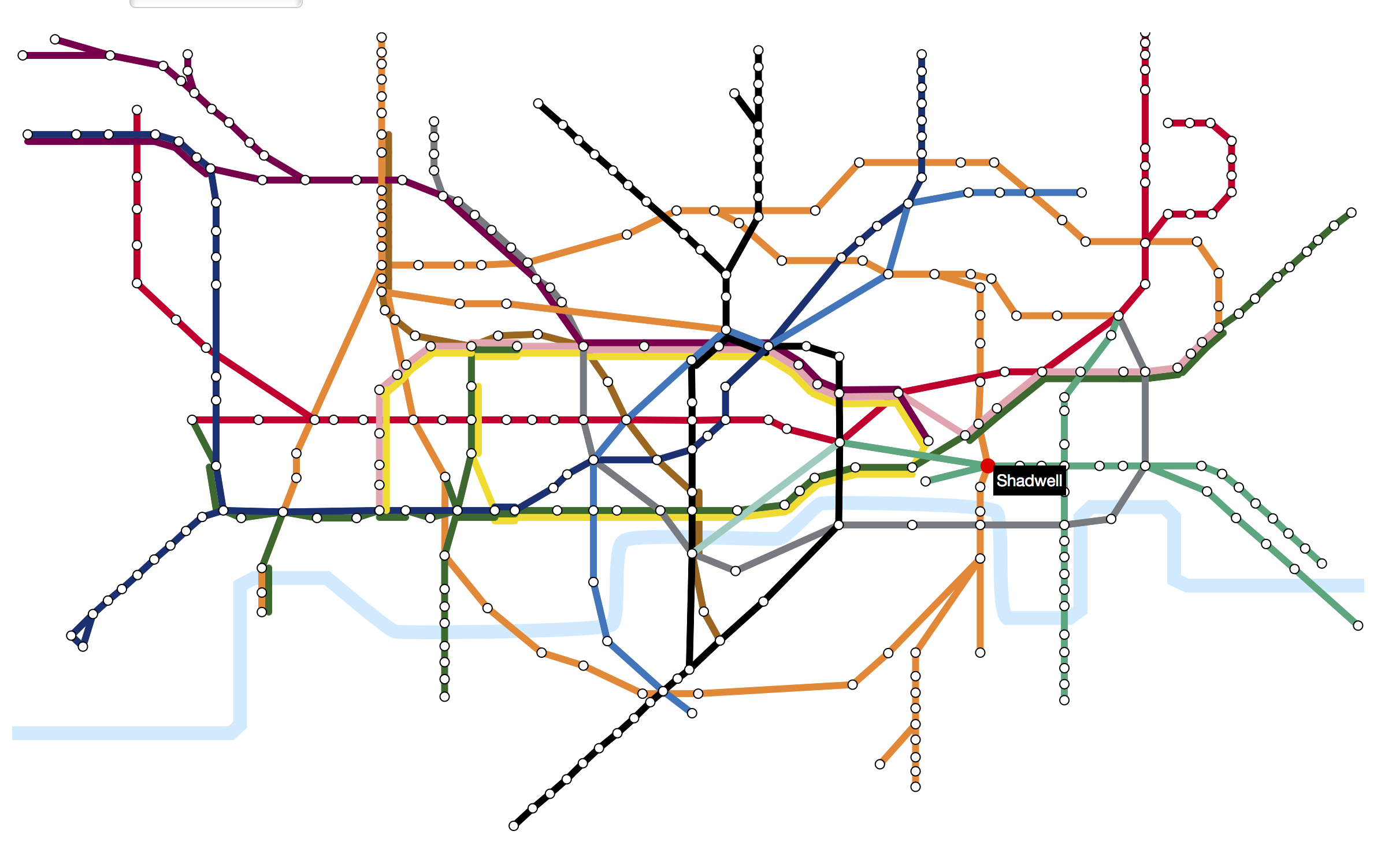 London property prices by tube line — Information is