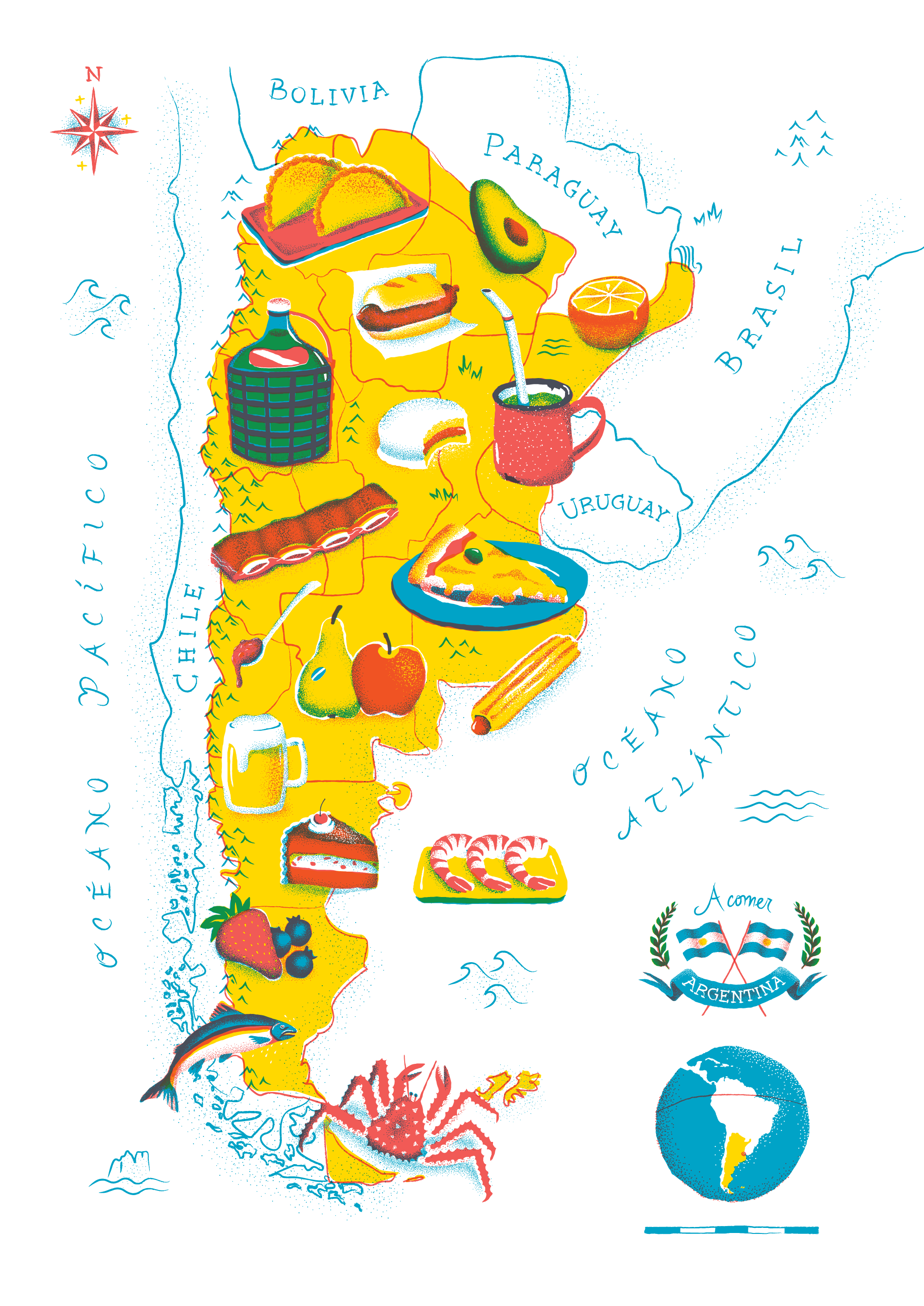 Argentine Food Map Information Is Beautiful Awards
