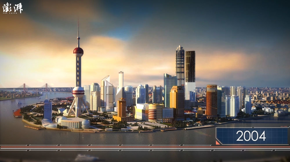 Watch the rising of the shanghai skyline in 49 seconds information is beautiful awards - Shanghai skyline wallpaper ...