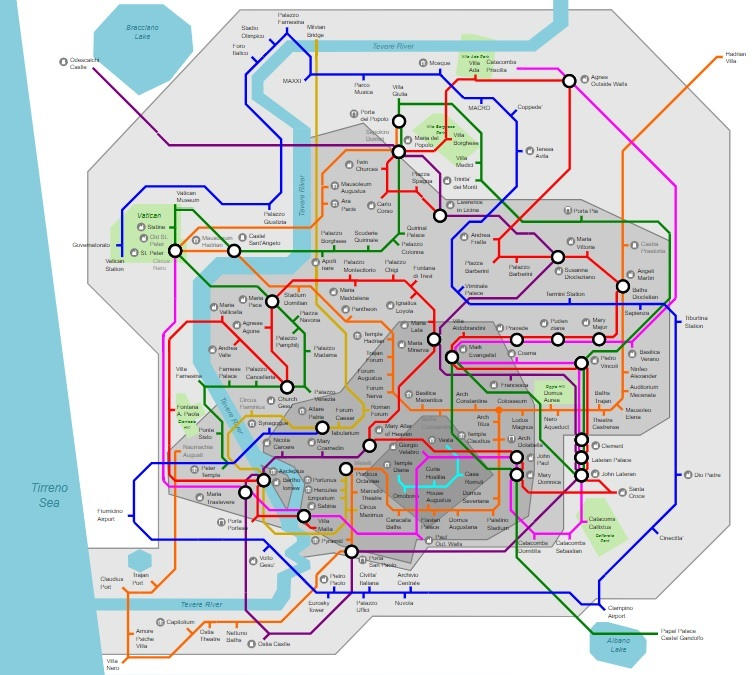 Ancient Rome Subway Map.Rome Metro Map Information Is Beautiful Awards