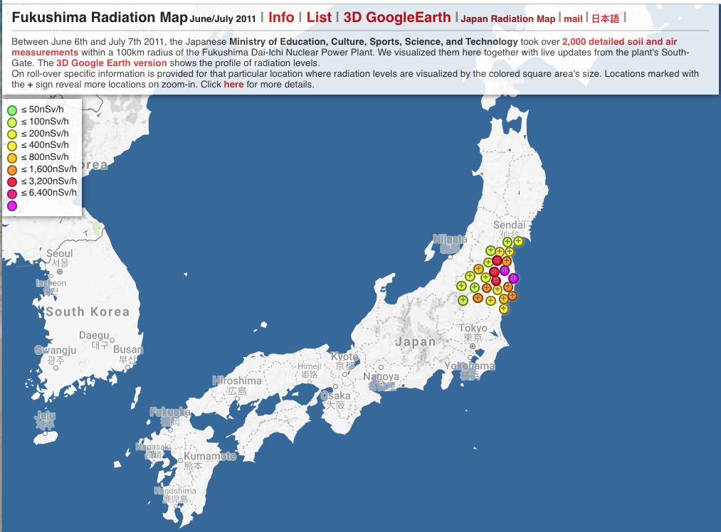 Japan Radiation Map — Information is Beautiful Awards on map of georgia, map of south america, map of germany, map of canada, honshu japan, hamamatsu japan, yokota japan, sendai japan, map of us, languages spoken in japan, map of florida, map of europe, winter in japan, map of ohio, hyogo japan, map of california, map of the united states, map of north carolina, map of china, map of virginia, kawasaki japan, kanagawa japan, world map japan, printable map japan, hakone japan, map of mexico, map of usa, map of the world, nikko japan, gifu japan, nagoya japan, hiroshima japan, map of italy, info about japan, takayama japan, mountains in japan, map of africa, map of texas,